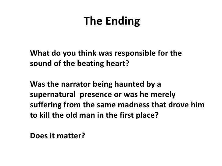 essay questions the tell tale heart