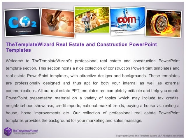 Construction real estate powerpoint template real estate ppt temp 2 thetemplatewizard real estate and construction powerpoint templates welcome to thetemplatewizards professional toneelgroepblik Images
