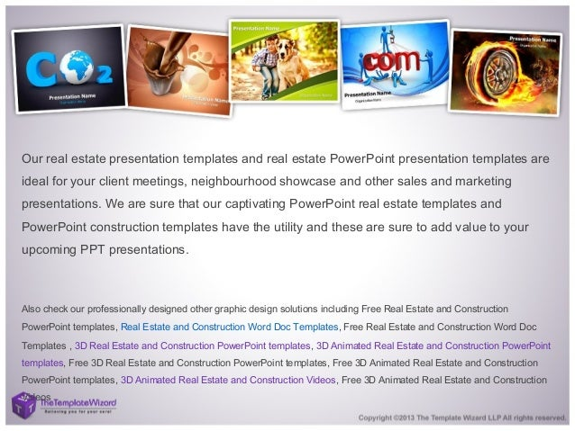 construction & real estate powerpoint template - real estate ppt temp…, Powerpoint templates