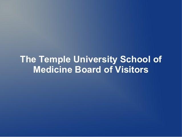 The Temple University School ofMedicine Board of Visitors