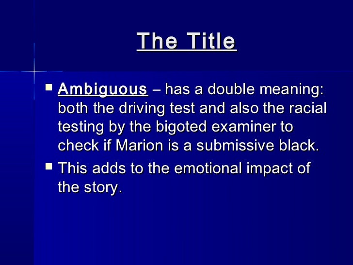 the test by angelica gibb