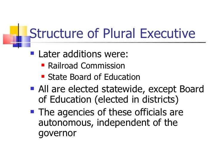 texas plural executive Licensing implementation rules multimember agencies plural executive   who is in charge of the administrative and procedural duties of the texas senate.