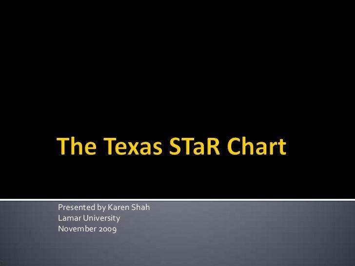 The Texas STaR Chart<br />Presented by Karen Shah<br />Lamar University<br />November 2009<br />