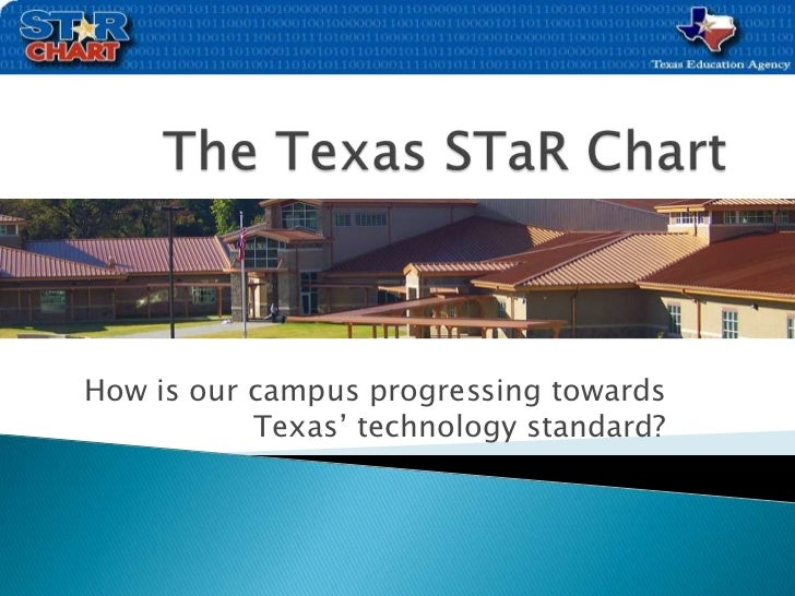 The Texas STaR Chart<br />How is our campus progressing towards Texas' technology standard?<br />