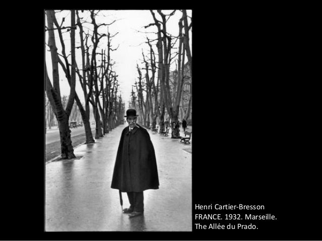 an analysis of the photographs allee du prado marseille and seville spain by henri cartier bresson Cartier-bresson recuperated in marseille in late 1931 and  the photographs of henri cartier-bresson  spain 1992 hommage à henri cartier-bresson.