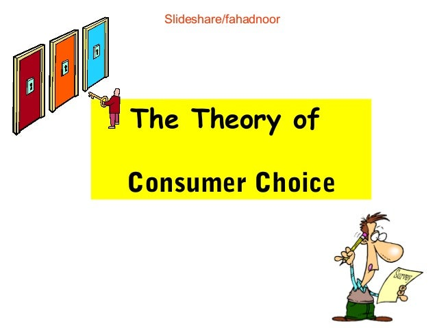 Consumer Choice and Utility