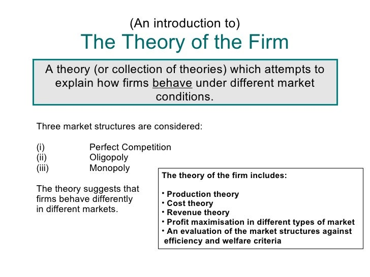 "a behavioral theory of the firm Introduction the ""behavioral theory of the firm"" refers to a research tradition that follows the basic assumptions and interests of richard m cyert and james g march's pioneering work, a behavioral theory of the firm (cyert and march 1963, cited under classic treatments."