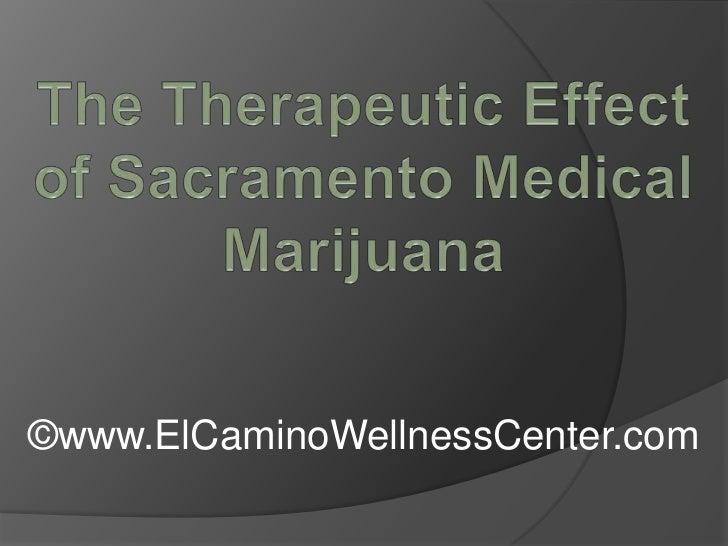 The Therapeutic Effect of Sacramento Medical Marijuana<br />©www.ElCaminoWellnessCenter.com<br />