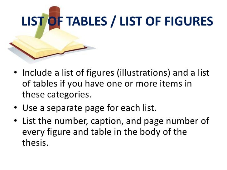 table illustrations dissertation Preparation for the dissertation/thesis should be directed to the office of   entries, list of tables/figures entries, and table/figure captions that are more  than.