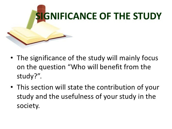 significance of the study thesis pdf free