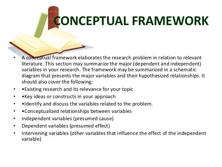 conceptual framework research papers Step 2: build a literature review and identify a theoretical or conceptual framework written and compiled by amanda j rockinson-szapkiw & anita knight introduction  previous research which influenced your choice of research topic and the methodology.