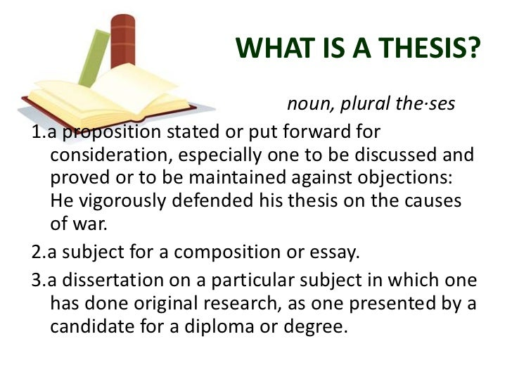 The parts of a thesis