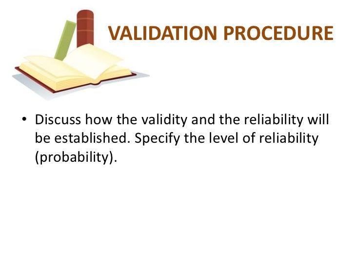 thesis process validation