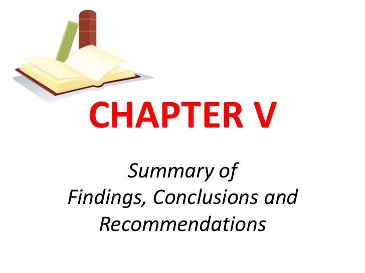 Conclusions and recommendations in a thesis