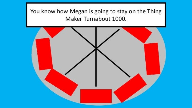You know how Megan is going to stay on the Thing Maker Turnabout 1000.