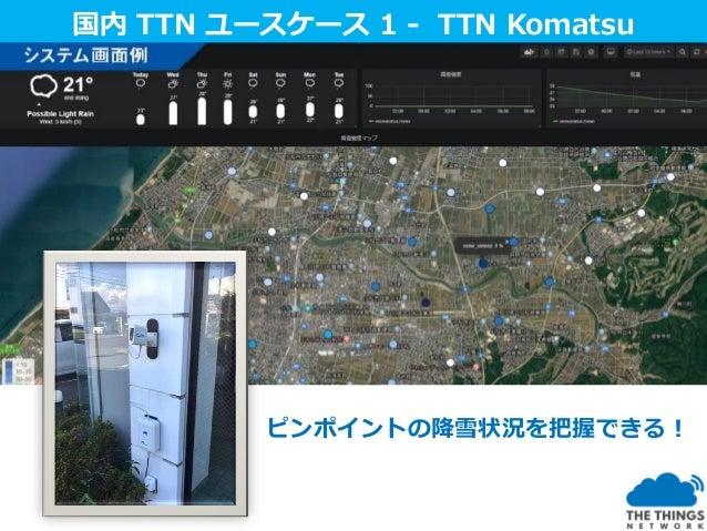 国内ユースケース国内 TTN ユースケース 2 - TTN Wakayama 河川水位センサ 氾濫危険地域察知