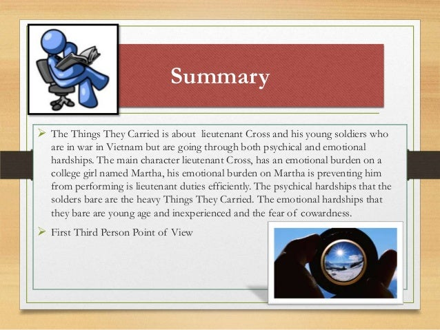 the things they carried essay topics Continue for 2 more pages » • join now to read essay mary anne of things they carried and other term papers or research documents.
