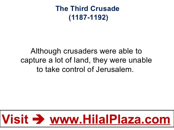 the capture of jerusalem by saladin essay On 2nd october 1187, the siege of jerusalem came to an end when saladin captured the city from the crusaders who had ruled the city since 1099 having been d.