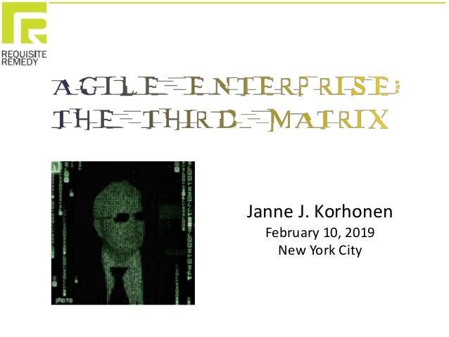 Janne J. Korhonen February 10, 2019 New York City