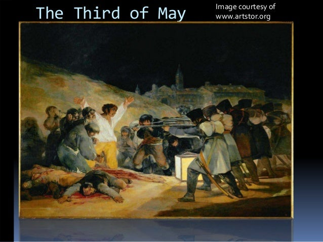 an evaluation of the painting the third of may by francisco de goya Paulino gimenez, an art restorer from malaga, announced at the weekend, after 10 months of investigation, that a privately owned painting attributed to salvador maella, a lesser contemporary of the spanish painter francisco de goya, was the work of the master himself.