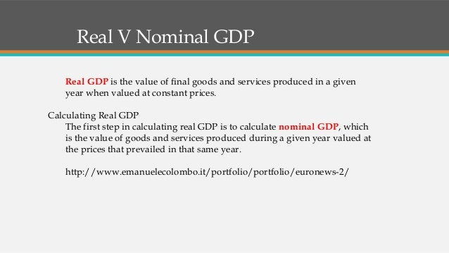 the three approaches to measuring gdp