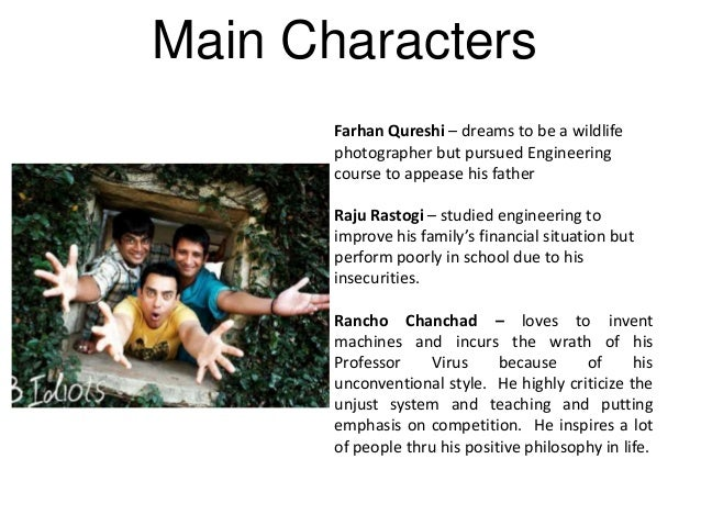 movie three idiots essay Below is a free excerpt of analysis on 3 idiots movie from anti essays, your  source for free research papers, essays, and term paper examples.