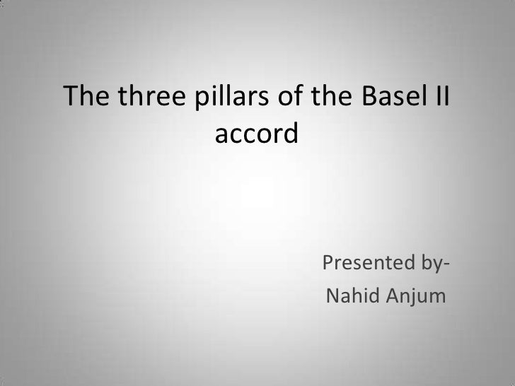 The three pillars of the Basel II            accord                      Presented by-                      Nahid Anjum
