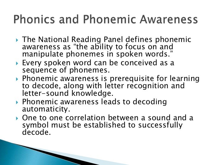 The Three R's of Phonics Instruction: Relationships