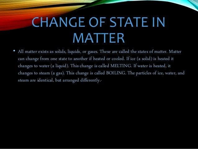 The Three States Of Matter