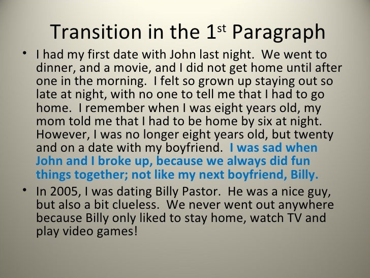 dating paragraphs