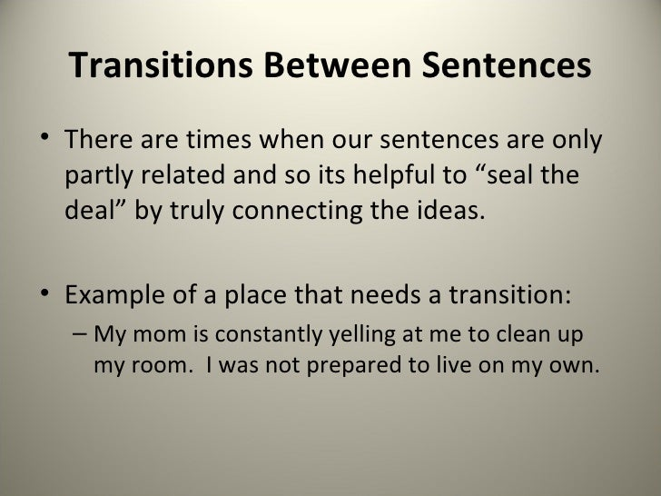 good paragraph transitions for essays
