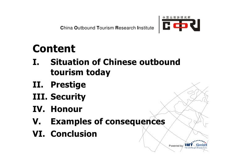 Motivations in choosing destinations for Chinese Outbound