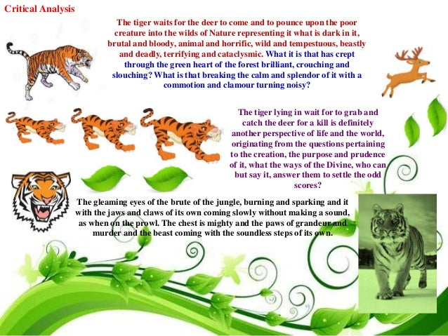 the tiger and deer by aurobindo ghosh If lucky you may get to see wild elephants, nilgiri langur, sambar deer, wild   for meditation and spiritual learning named after guru sri aurobindo ghosh.