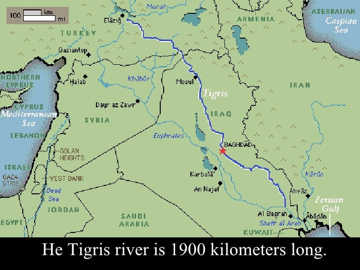 The Tigris River (Dicle) Slide 2