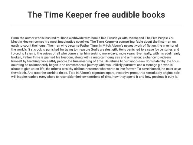 the time keeper free audible books