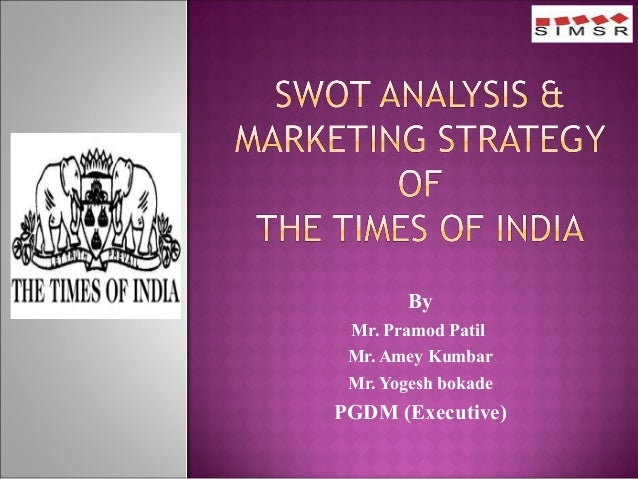 By  Mr. Pramod Patil  Mr. Amey Kumbar  Mr. Yogesh bokade  PGDM (Executive)