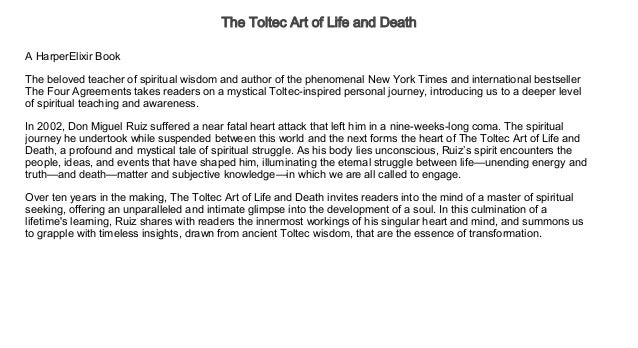 The Toltec Art Of Life And Death Audiobooks Free