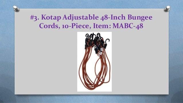 Item 10-Piece Kotap Adjustable 48-Inch Bungee Cords MABC-48