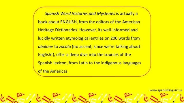 3 Spanishlinguistus Spanish Word