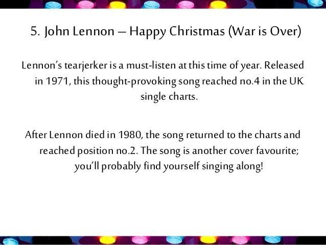 8 5 john lennon happy christmas - John Lennon Christmas Songs