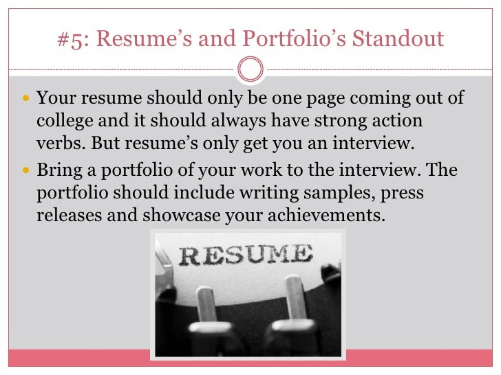 What You Need On Your Resume Coming Out Of College
