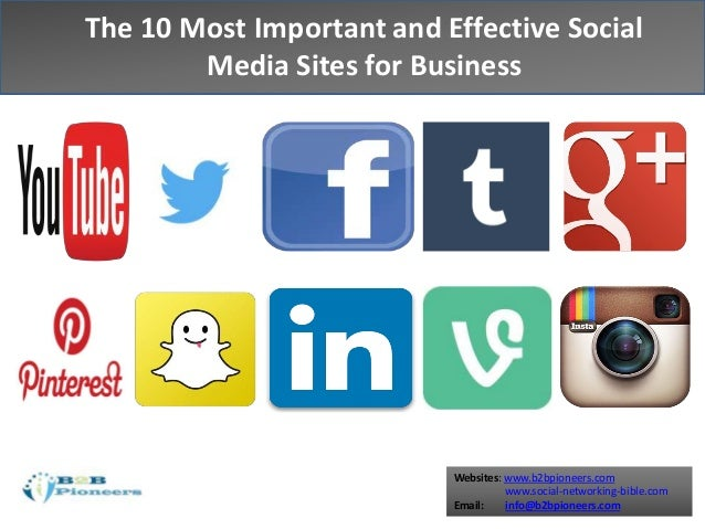 The Top 10 Social Media Sites For Business