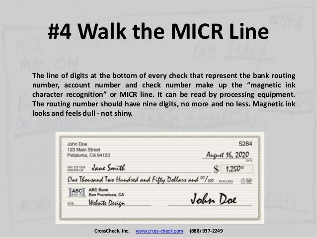 The Top 10 Tips to Spot a Fake Check