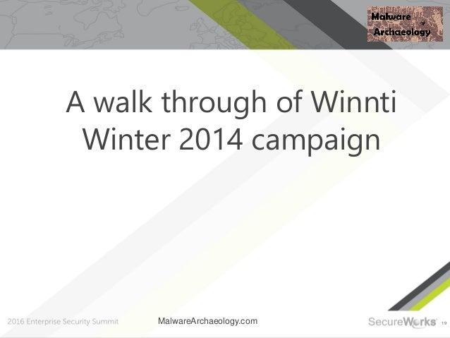 19 A walk through of Winnti Winter 2014 campaign MalwareArchaeology.com