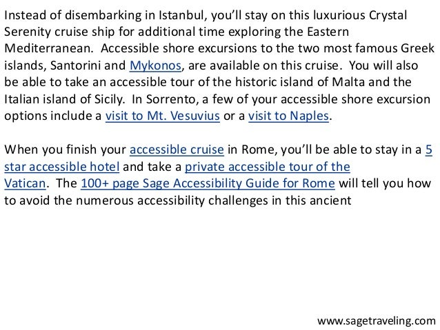 Instead of disembarking in Istanbul, you'll stay on this luxurious Crystal  Serenity cruise ship for additional time explo...