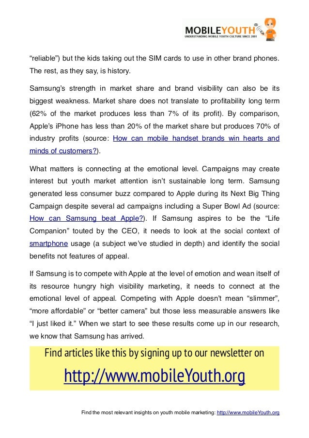 """""""reliable"""") but the kids taking out the SIM cards to use in other brand phones.The rest, as they say, is history.Samsung's..."""