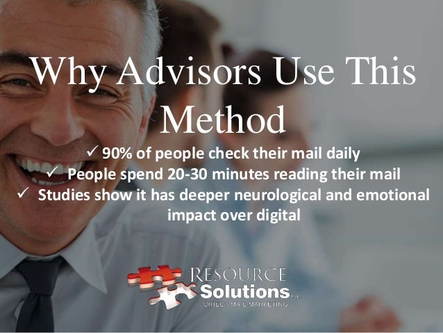 Direct mail marketing for financial advisors