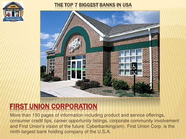 The top 7 biggest banks in USA