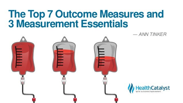 The Top 7 Outcome Measures and 3 Measurement Essentials ― ANN TINKER