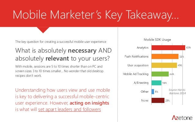 Mobile Marketer's Key Takeaway…  The key question for creating a successful mobile user experience  What is absolutely nec...